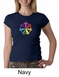 Ladies Yoga Shirt 7 Chakra Circle Crewneck Tee T-Shirt