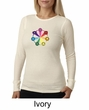 Ladies Yoga Shirt 7 Chakra Circle Long Sleeve Thermal Tee T-Shirt