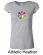 Ladies Yoga Shirt 7 Chakra Circle Longer Length Tee T-Shirt