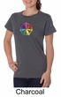 Ladies Yoga Shirt 7 Chakra Circle Organic Tee T-Shirt