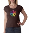 Ladies Yoga Shirt 7 Chakra Circle Scoop Neck Tee T-Shirt