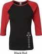 Ladies Yoga Shirt 7 Chakras Bottom Print Raglan Tee T-Shirt