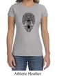 Ladies Yoga Shirt Black Bodhi Tree Crewneck Tee T-Shirt