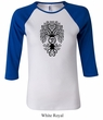 Ladies Yoga Shirt Black Bodhi Tree Raglan Tee T-Shirt