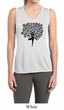 Ladies Yoga Shirt Black Tree Pose Sleeveless Moisture Wicking Tee