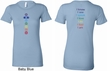 Ladies Yoga Shirt Chakra Words Front and Back Longer Length Shirt