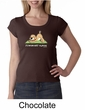 Ladies Yoga Shirt Downward Human Scoop Neck Tee T-Shirt