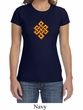 Ladies Yoga Shirt Endless Knot Crewneck Tee T-Shirt