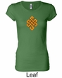 Ladies Yoga Shirt Endless Knot Longer Length Tee T-Shirt