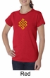 Ladies Yoga Shirt Endless Knot Organic Tee T-Shirt