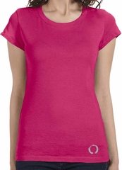 Ladies Yoga Shirt Enso Bottom Print Longer Length Tee T-Shirt