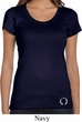 Ladies Yoga Shirt Enso Bottom Print Scoop Neck Tee T-Shirt