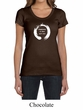 Ladies Yoga Shirt Enso Happiness Scoop Neck Tee T-Shirt