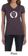 Ladies Yoga Shirt Enso Happiness V-neck Tee T-Shirt
