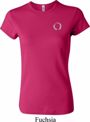 Ladies Yoga Shirt Enso Pocket Print Crewneck Tee T-Shirt