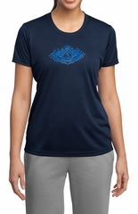 Ladies Yoga Shirt Floral Ajna Moisture Wicking Tee T-Shirt
