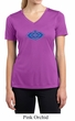 Ladies Yoga Shirt Floral Ajna Moisture Wicking V-neck Tee T-Shirt