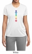 Ladies Yoga Shirt Floral Chakras Moisture Wicking Tee T-Shirt