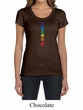 Ladies Yoga Shirt Floral Chakras Scoop Neck Tee T-Shirt