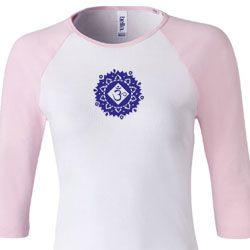 Ladies Yoga Shirt Floral Sahasrara Raglan Tee T-Shirt