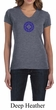 Ladies Yoga Shirt Floral Sahasrara V-neck Tee T-Shirt