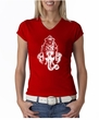 Ladies Yoga Shirt Ganesha Head V-Neck Tee T-Shirt
