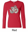 Ladies Yoga Shirt Ganesha OM Long Sleeve Tee T-Shirt