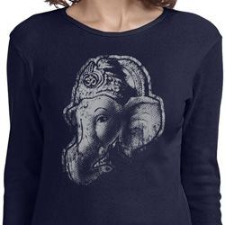 Ladies Yoga Shirt Ganesha Profile Long Sleeve Tee T-Shirt