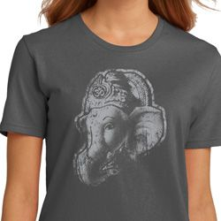 Ladies Yoga Shirt Ganesha Profile Organic Tee T-Shirt
