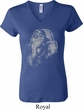 Ladies Yoga Shirt Ganesha Profile V-neck Tee T-Shirt