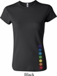 Ladies Yoga Shirt Glowing Chakras Bottom Print Crewneck Tee T-Shirt