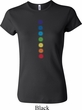 Ladies Yoga Shirt Glowing Chakras Crewneck Tee T-Shirt