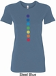 Ladies Yoga Shirt Glowing Chakras Longer Length Tee T-Shirt