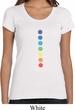 Ladies Yoga Shirt Glowing Chakras Scoop Neck Tee T-Shirt