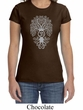 Ladies Yoga Shirt Grey Bodhi Tree Crewneck Tee T-Shirt