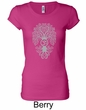 Ladies Yoga Shirt Grey Bodhi Tree Longer Length Tee T-Shirt