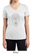 Ladies Yoga Shirt Grey Bodhi Tree Moisture Wicking V-neck Tee T-Shirt