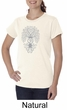 Ladies Yoga Shirt Grey Bodhi Tree Organic Tee T-Shirt