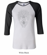 Ladies Yoga Shirt Grey Bodhi Tree Raglan Tee T-Shirt