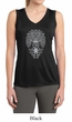 Ladies Yoga Shirt Grey Bodhi Tree Sleeveless Moisture Wicking Tee