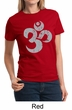 Ladies Yoga Shirt Grey Distressed OM Tee T-Shirt