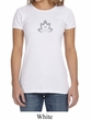 Ladies Yoga Shirt Grey Namaste Lotus Crewneck Tee T-Shirt