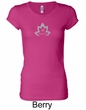 Ladies Yoga Shirt Grey Namaste Lotus Longer Length Tee T-Shirt