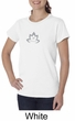 Ladies Yoga Shirt Grey Namaste Lotus Organic Tee T-Shirt