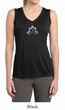 Ladies Yoga Shirt Grey Namaste Lotus Sleeveless Moisture Wicking Tee