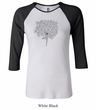 Ladies Yoga Shirt Grey Tree Pose Raglan Tee T-Shirt