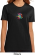 Ladies Yoga Shirt Hippie Sun Patch Middle Print Organic Tee T-Shirt