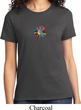Ladies Yoga Shirt Hippie Sun Patch Middle Print Tee T-Shirt