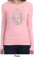 Ladies Yoga Shirt Iconic Buddha Long Sleeve Tee T-Shirt