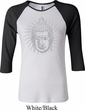 Ladies Yoga Shirt Iconic Buddha Raglan Tee T-Shirt